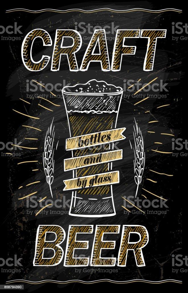 craft beer chalkboard design concept stock vector art more images