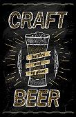 Craft beer chalkboard design concept