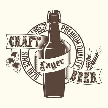 Craft Beer emblem design