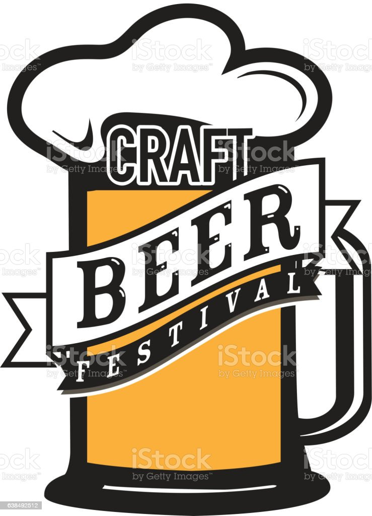 Craft beer Festival label design royalty-free craft beer festival label design stock vector art & more images of alcohol