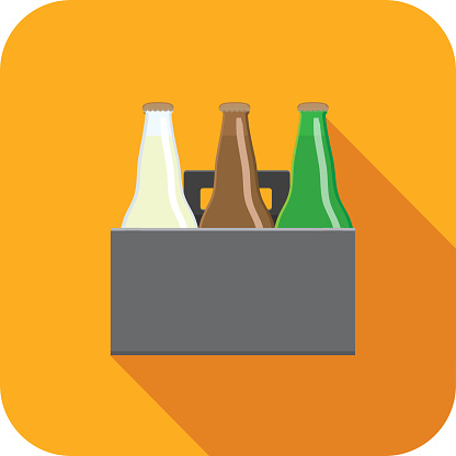 Craft beer Flat Design themed Icon with shadow