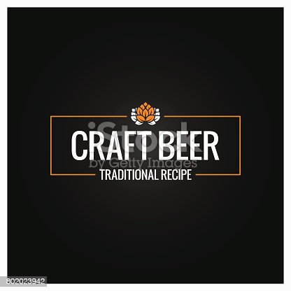 istock craft beer icon design background 802023942