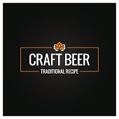 craft beer icon design background 10 eps