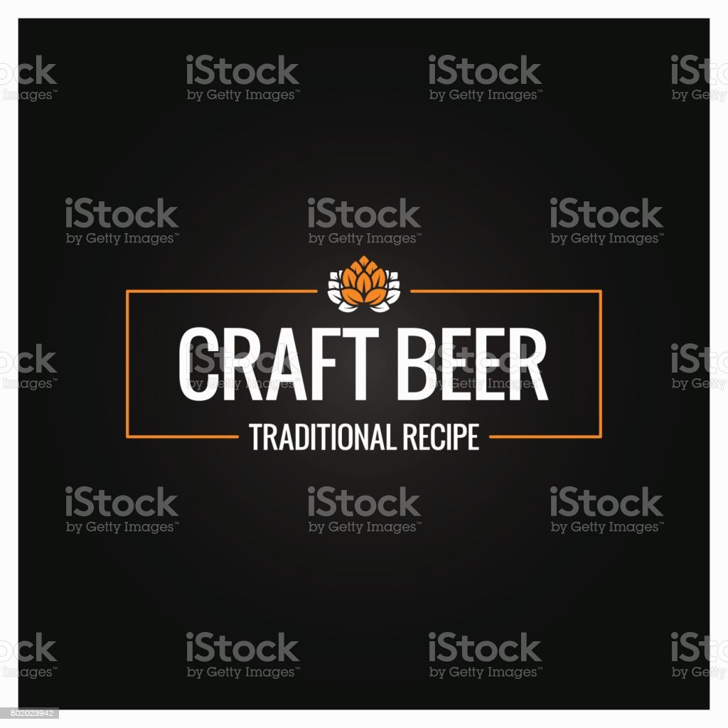 craft beer icon design background vector art illustration