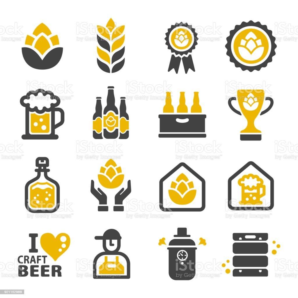 icône de bières artisanales - clipart vectoriel de Alcool libre de droits