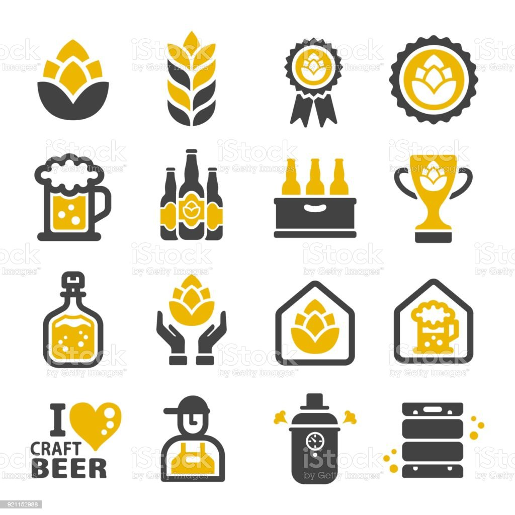 craft beer icon vector art illustration