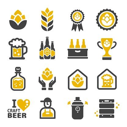 Icône De Bières Artisanales Vecteurs libres de droits et plus d'images vectorielles de Alcool