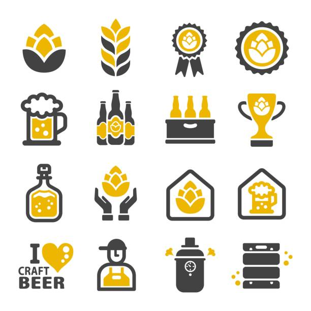 craft beer icon - beer stock illustrations