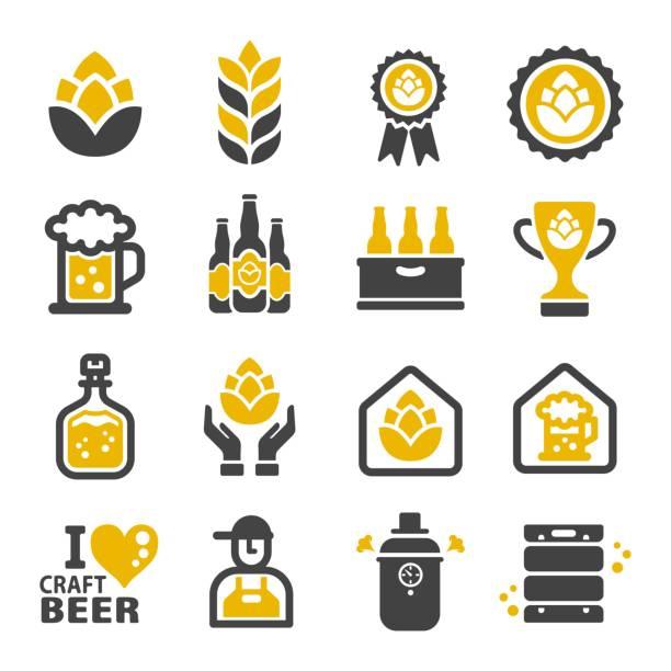 illustrazioni stock, clip art, cartoni animati e icone di tendenza di craft beer icon - , beer