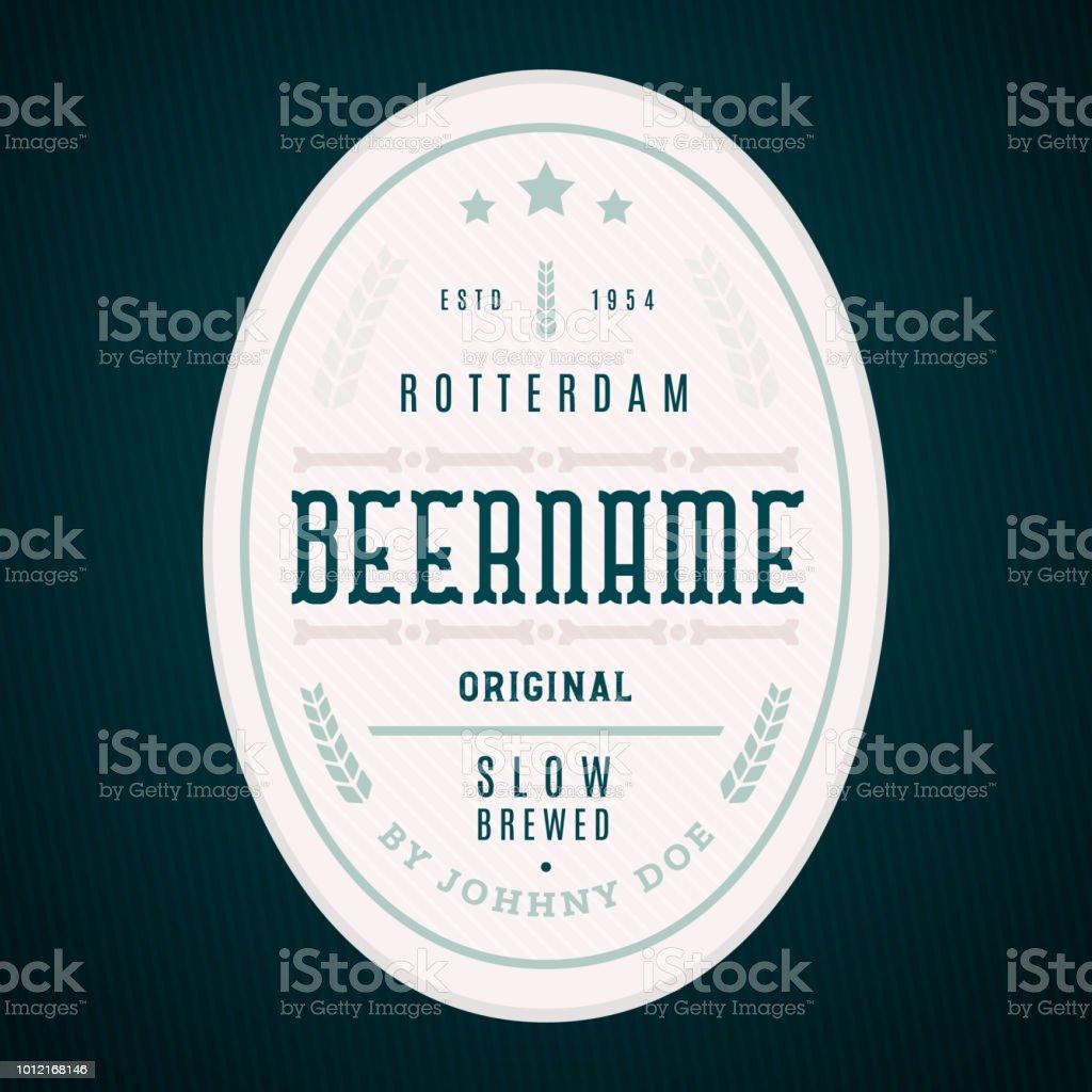 Craft Beer Label Template Modern Design Royalty Free