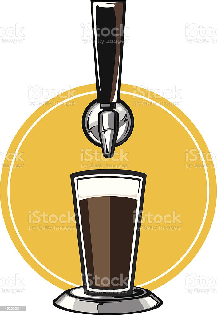craft beer tap vector art illustration