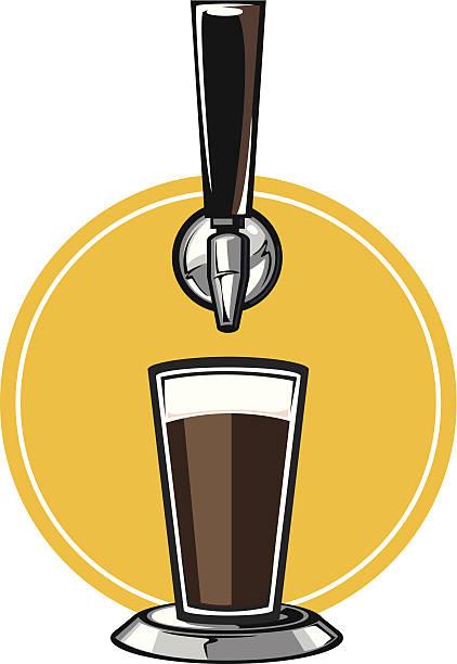 craft beer tap vector art illustration