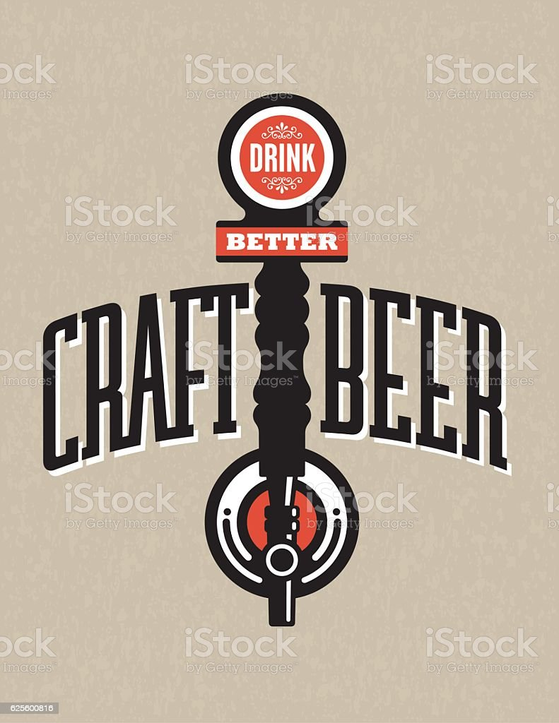 Craft Beer Vector Design vector art illustration