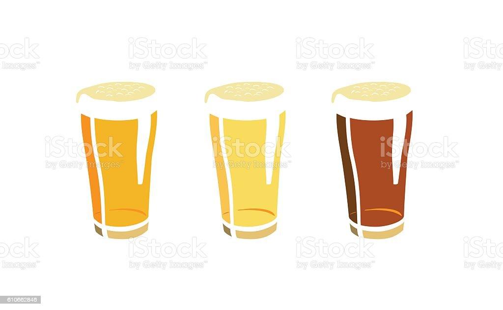 Craft beers vector art illustration
