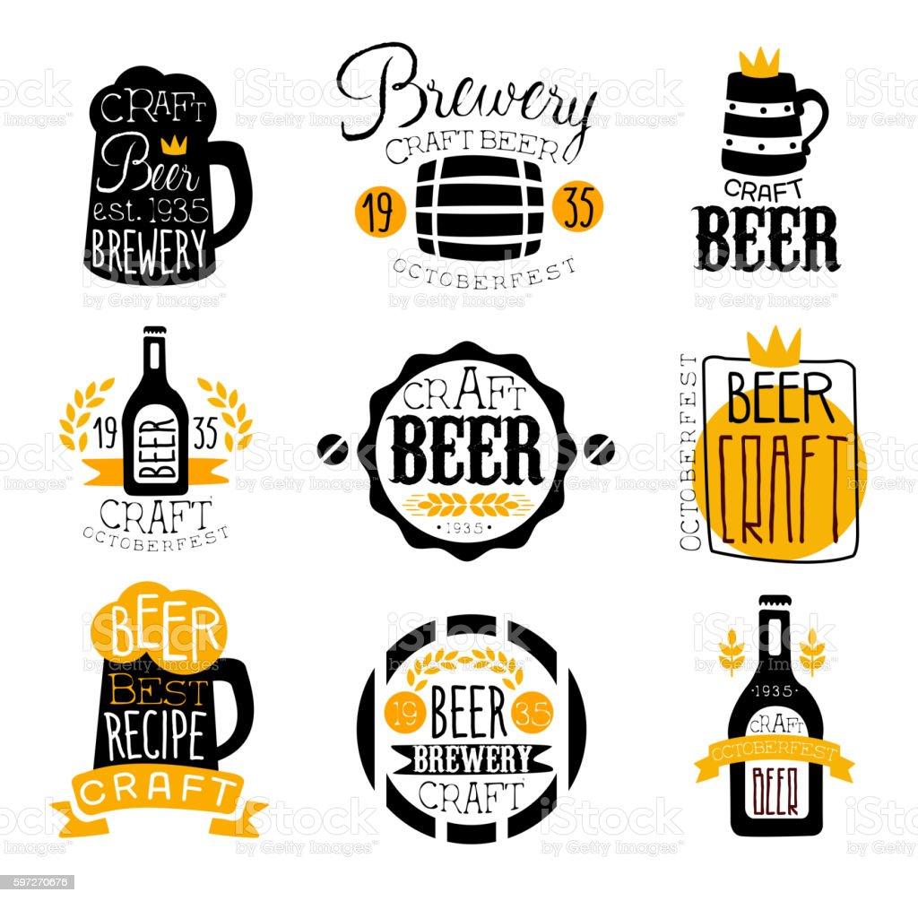 Craft Brewery Set Of Logo Design Templates Lizenzfreies craft brewery set of logo design templates stock vektor art und mehr bilder von 1935