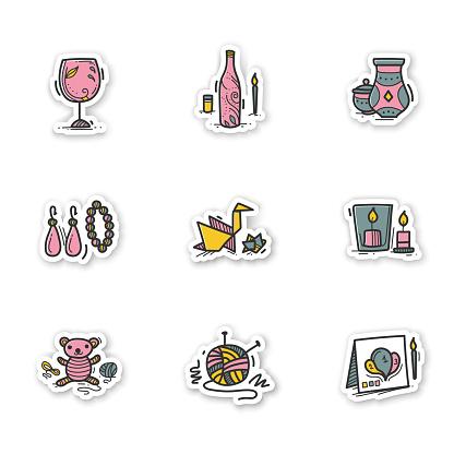 Craft hobby stickers