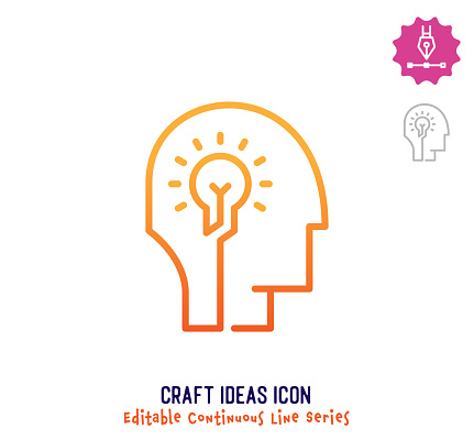 Craft Ideas Continuous Line Editable Stroke Line