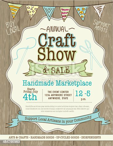 istock Craft show and sale poster design template 484295983