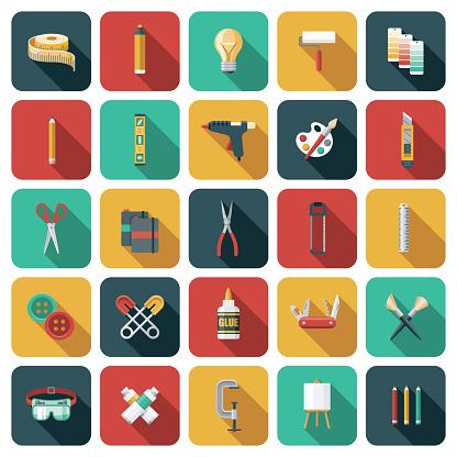 Craft Supplies Icon Set
