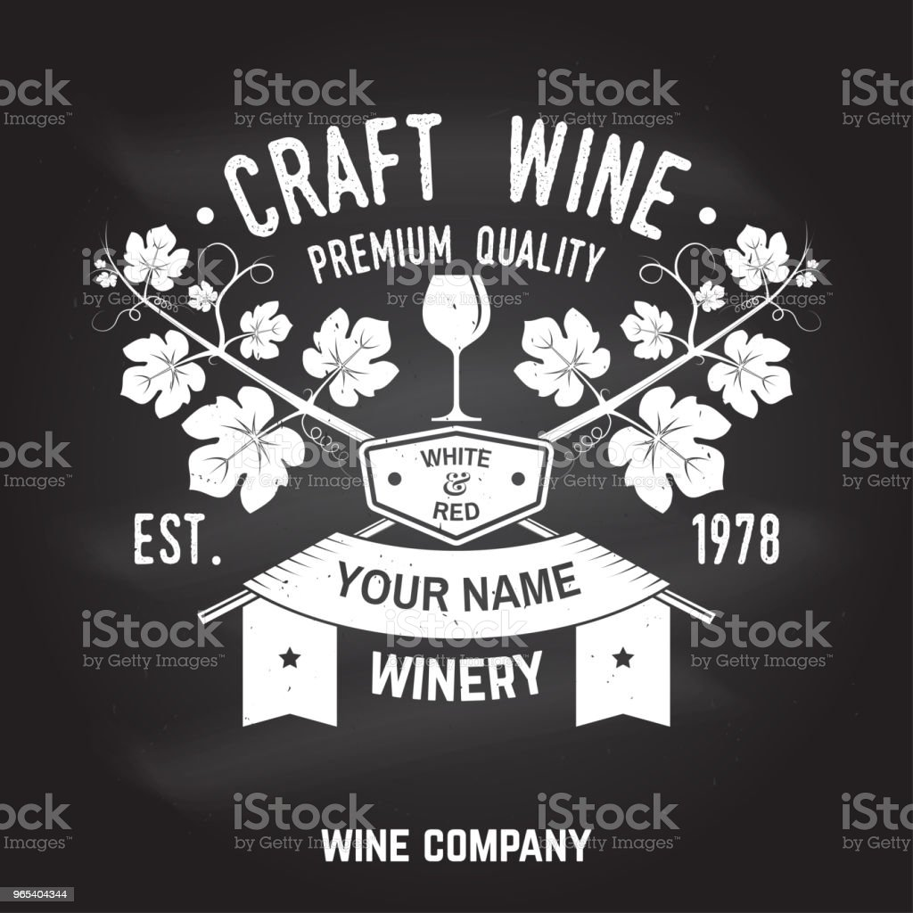 Craft wine. Winer company badge, sign or label. Vector illustration royalty-free craft wine winer company badge sign or label vector illustration stock vector art & more images of alcohol