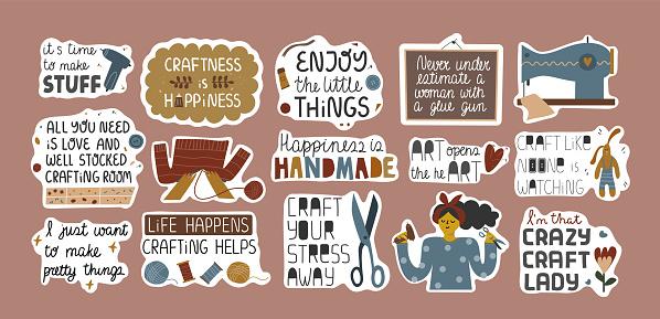 Crafts stickers.eps