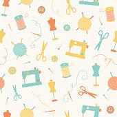 Crafty Seamless Pattern