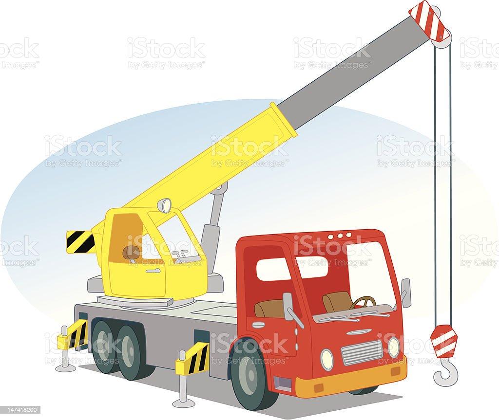 Crane car royalty-free stock vector art