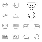 crane hook icon. web icons universal set for web and mobile
