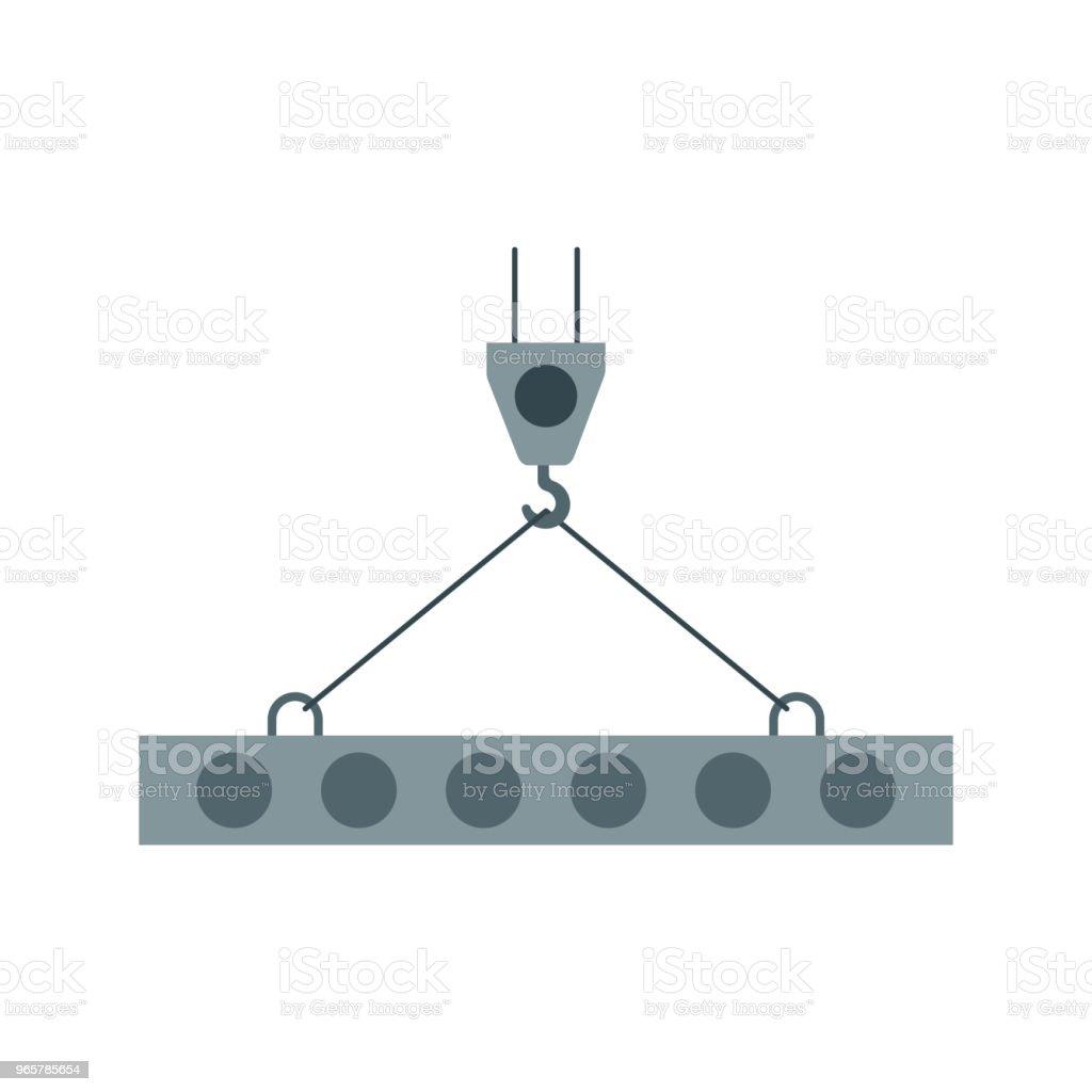 Kranens krok, lyft arbete, Crane, installationsarbeten, byggnad, vektorgrafik. - Royaltyfri Behållare vektorgrafik
