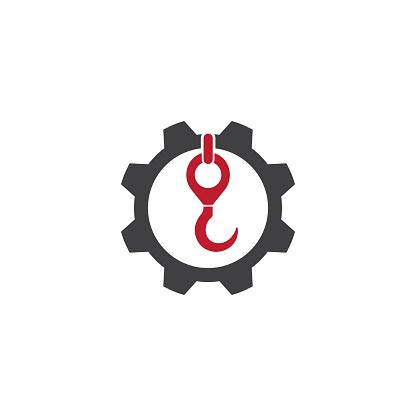 Crane hook logo vector template illustration