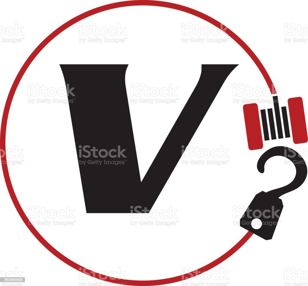 Crane Hook Towing Letter V crane hook towing letter v - immagini vettoriali stock e altre immagini di affari royalty-free