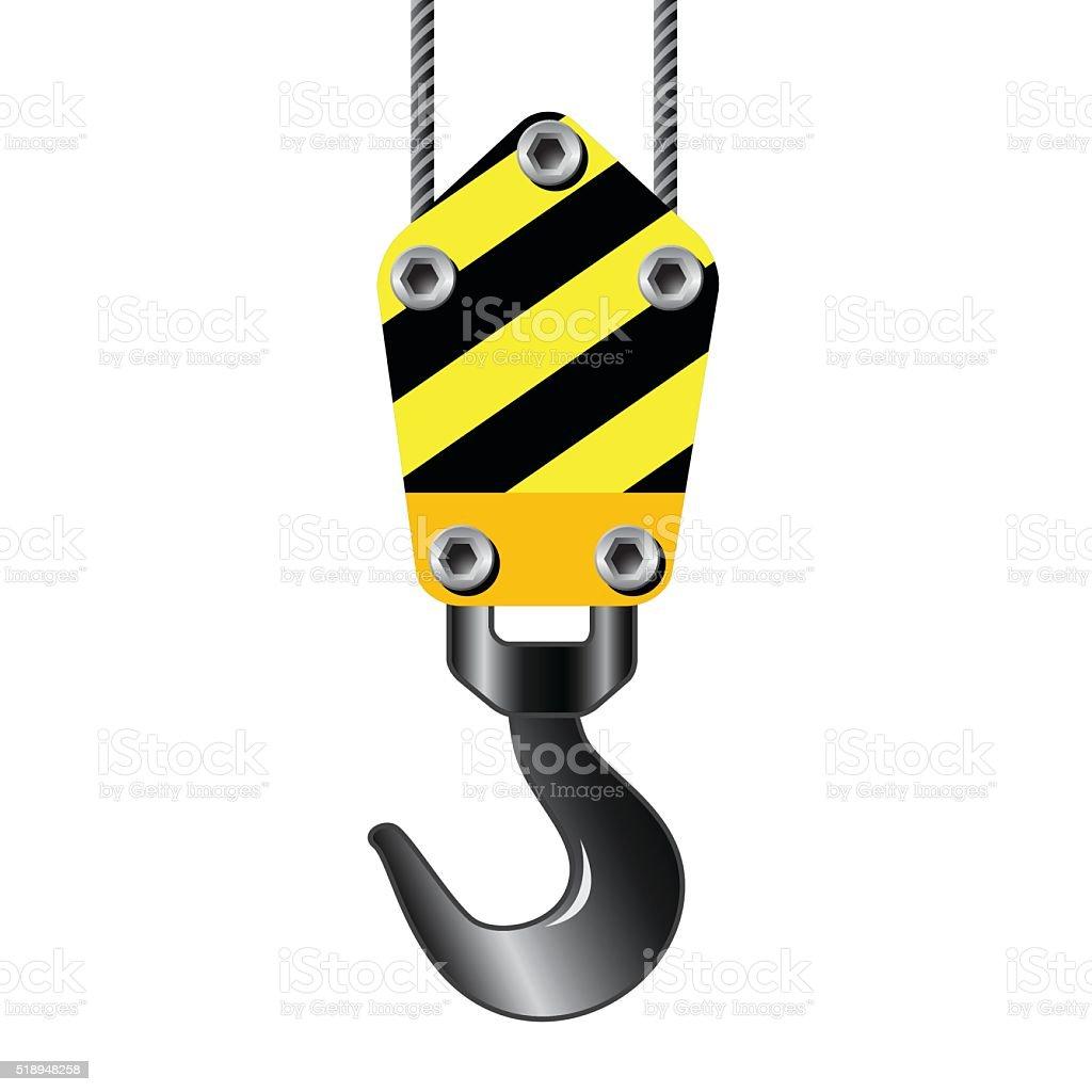 Crane hook vector art illustration
