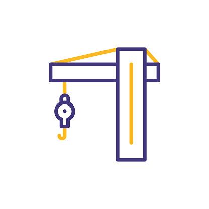 Crane Line Icon