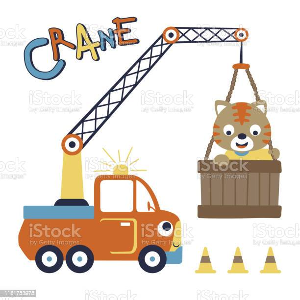 Crane truck with little cat vector cartoon illustration vector id1181753975?b=1&k=6&m=1181753975&s=612x612&h=5q6339brxaaftbmdeix36bddplmqou sfaiabset h0=