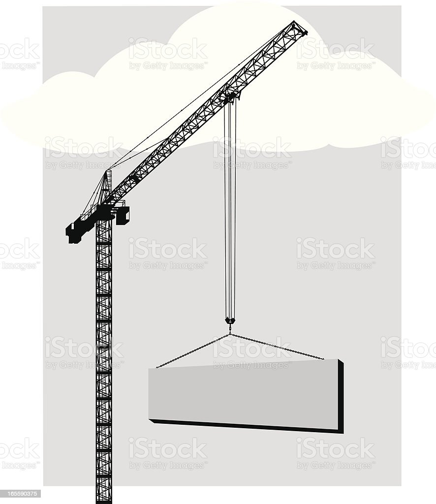 Crane royalty-free crane stock vector art & more images of construction industry