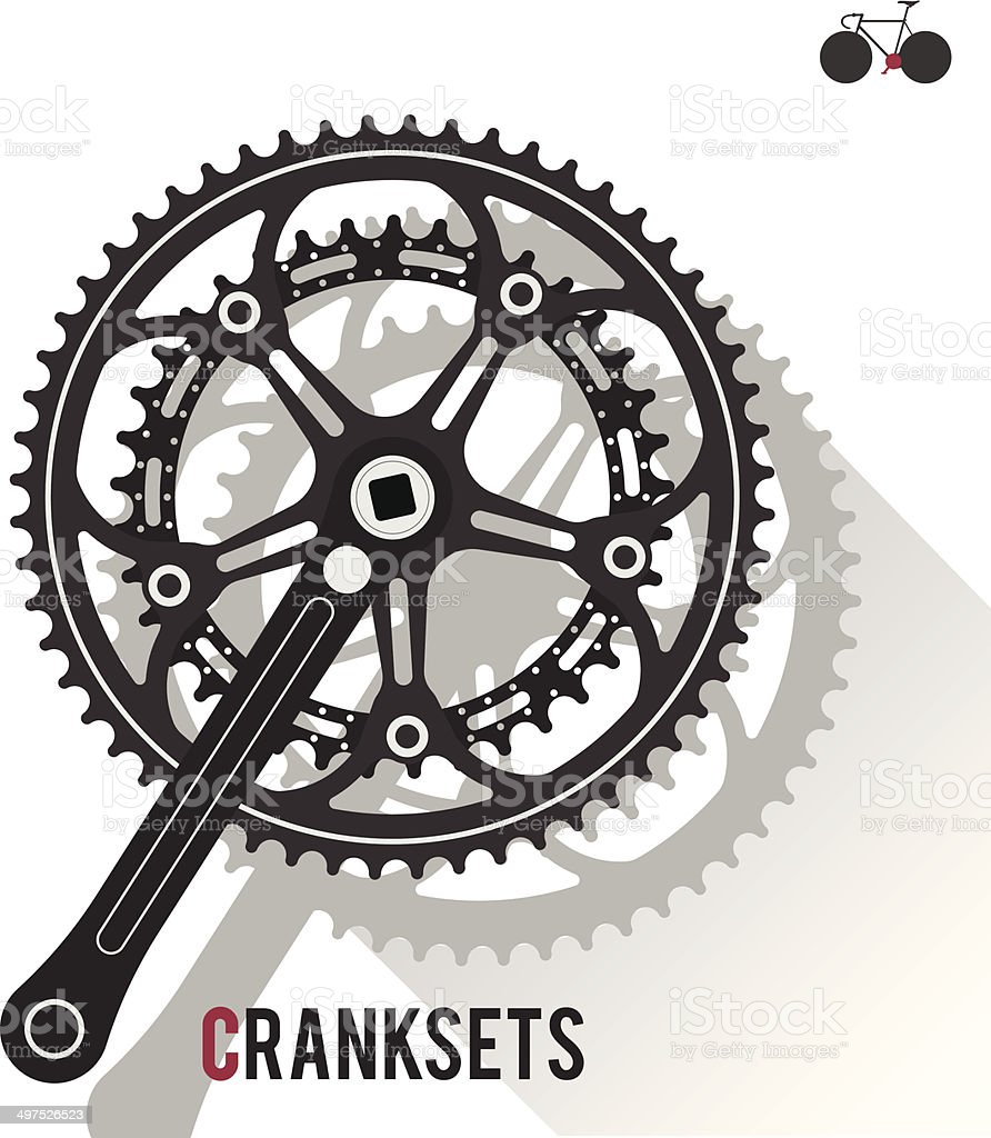 Cranksets vector art illustration