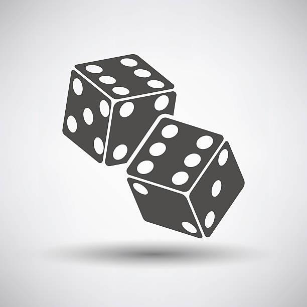 craps cubes icon - dice stock illustrations, clip art, cartoons, & icons