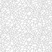 Craquelure, seamless linear pattern. Stylish texture with repeating lines randomly. Grunge texture, consisting of fine cracks on the glazed surface. Vector