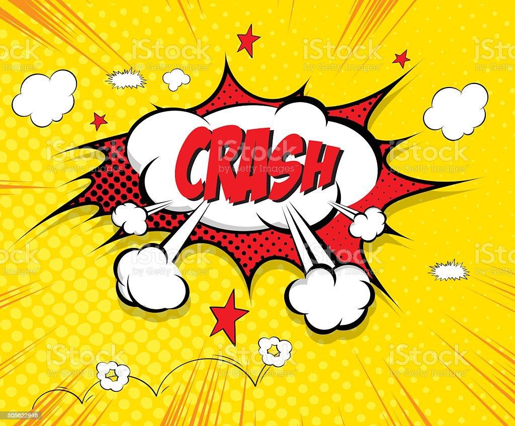 Crash- comic speech bubble vector art illustration