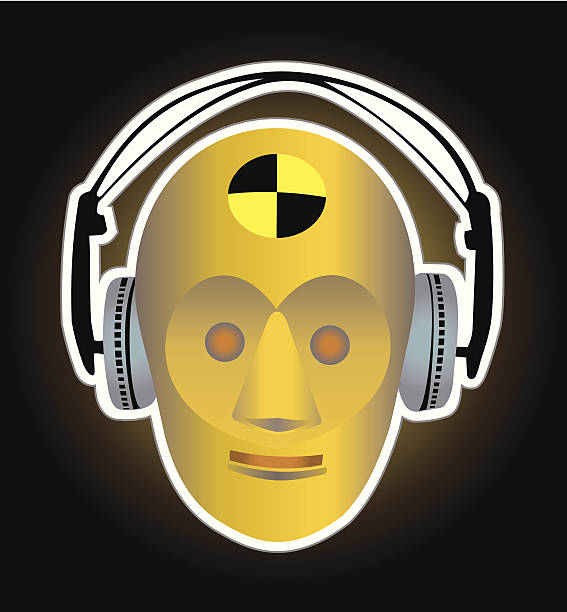 crash test dummy vector art illustration