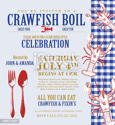 Crawfish boil invitation design template   https://farm3.staticflickr.com/2273/13065883674_1f9b1ba1f8_o.jpg