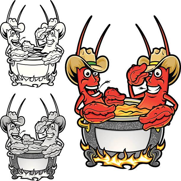 Crawfish Boil vector art illustration