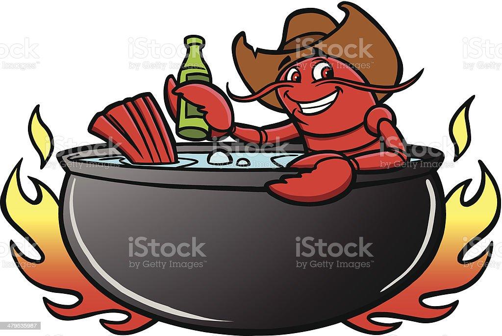 Crawfish Boil royalty-free stock vector art