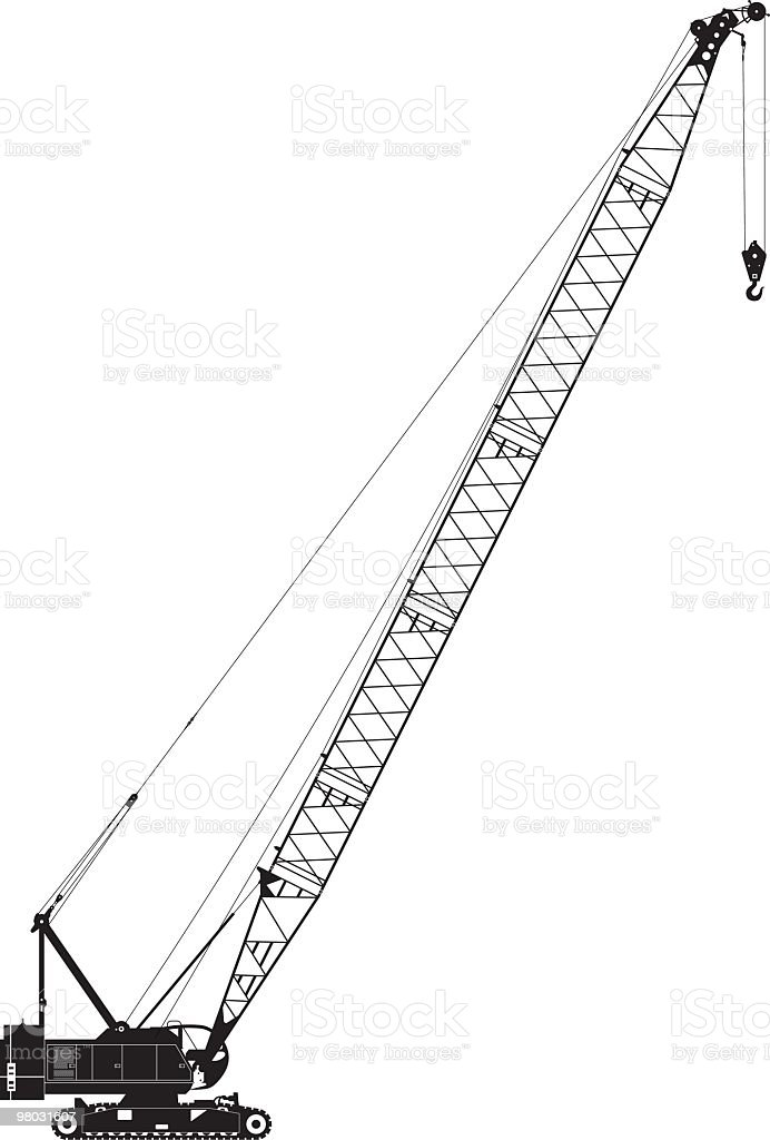 crawler crane side view royalty-free crawler crane side view stock vector art & more images of caterpillar track