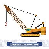 Crawler lattice boom crane