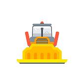 crawler or caterpillar bulldozer front view