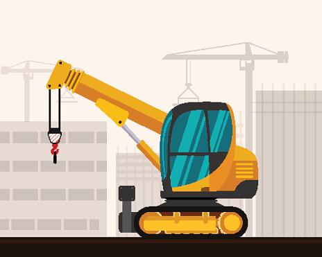 Crawler telescopic boom mini crane