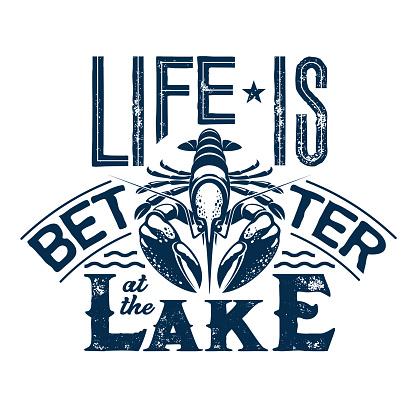Crayfish t-shirt print of fishing sport club