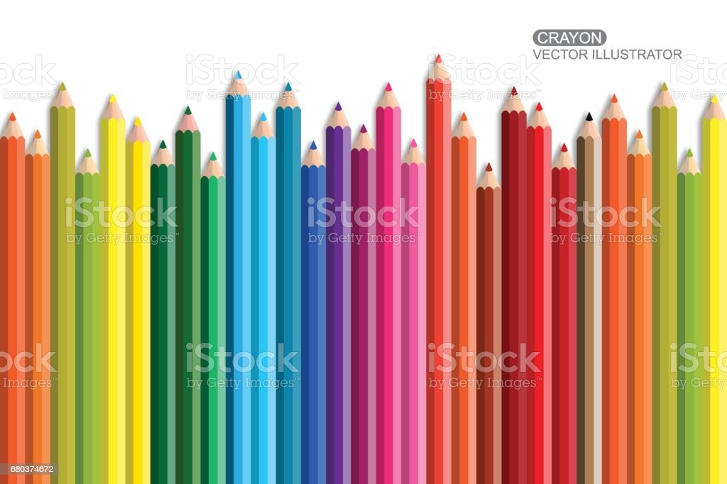 Crayon. Flat Design vector icon. royalty-free crayon flat design vector icon stock vector art & more images of art