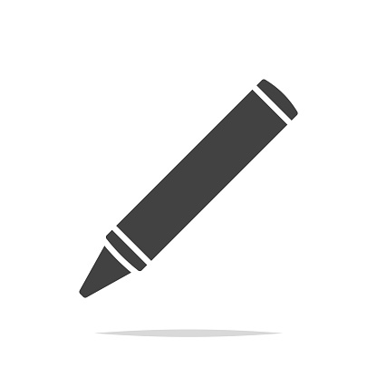 Crayon icon vector isolated